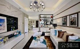 现代新古典二居室装修效果图