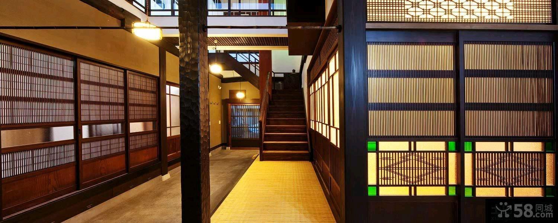 日式家装别墅效果图大全2015图片