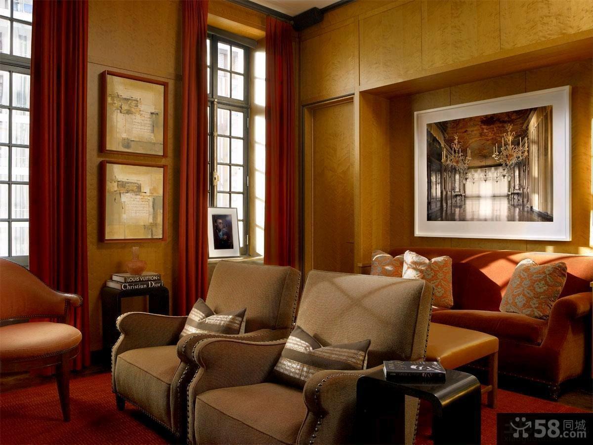 混搭欧式四居室户型室内装修图片大全
