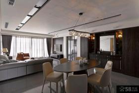 美式装修豪华客厅吊顶图片