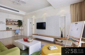 现代简约风格一室一厅装修效果图2015图片