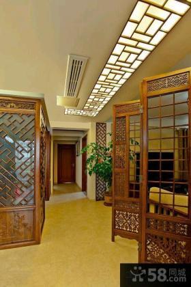 中式装修风格一居室家庭效果图大全2014图片