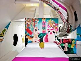 简约创意风格豪华时尚四居室效果图大全