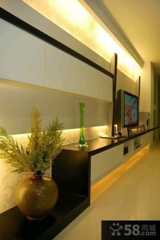 家装室内小客厅电视背景墙效果图