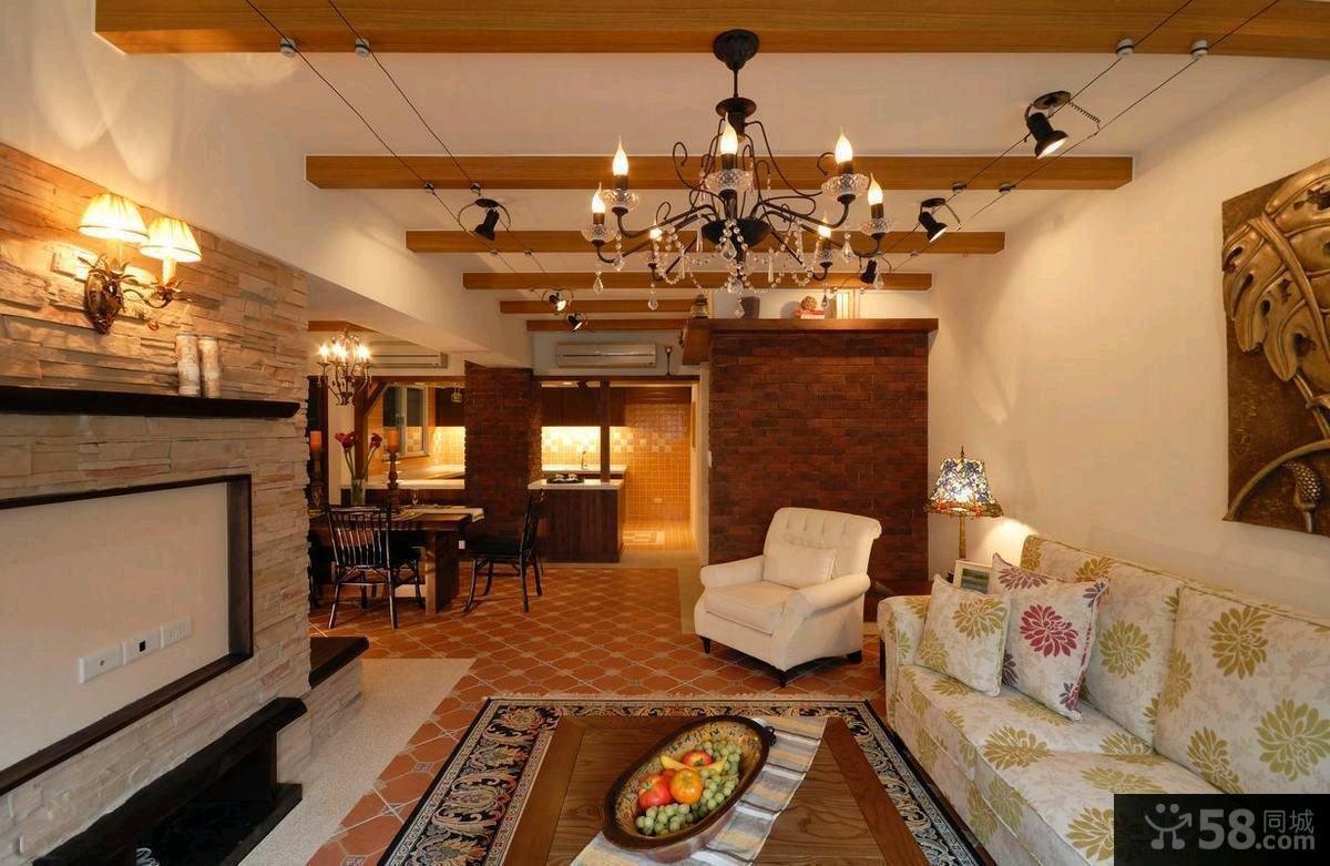 美式客厅装修效果图大全欣赏