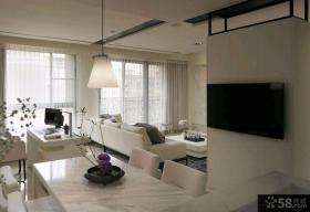 最新简约风格两室一厅户型家庭装修效果图