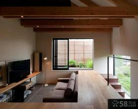 日式家居复式楼房装修效果图