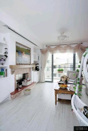家庭装修客厅窗帘效果图大全