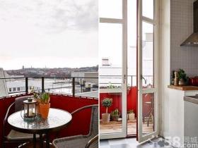 北欧复古舒适两居室装修效果图