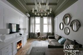 乌克兰混搭风格公寓装修设计效果图
