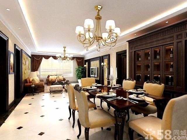 美式风格餐厅装修