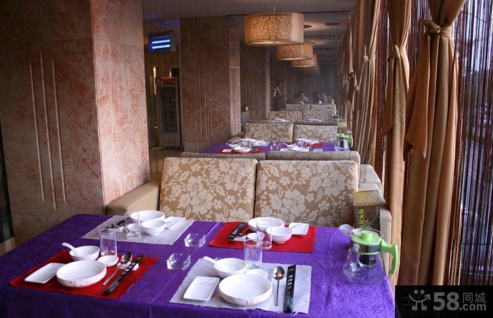 欧式餐厅卡座沙发图片欣赏