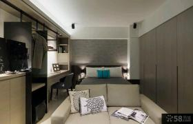 现代简约70平米精装一居室小户型装修效果图大全