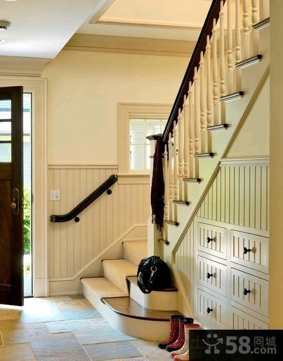 美式时尚风格楼梯图片欣赏