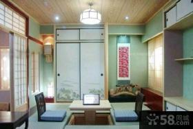 日式风格家庭装修榻榻米床图片