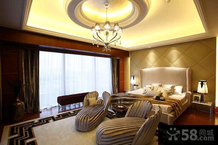 114平米欧式三居室装修样板间效果图大全