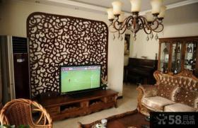 家庭设计装修客厅电视背景墙图片大全