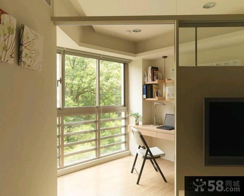 创意简约风格一居室家庭装修效果图2015