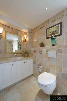 90平米时尚美式两室两厅家庭装修效果图