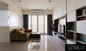 简约两室一厅时尚家居室内装修效果图2015