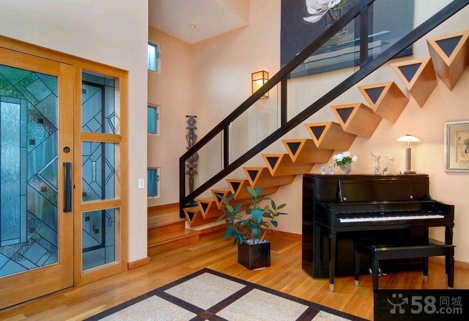现代装修室内楼梯效果图2015