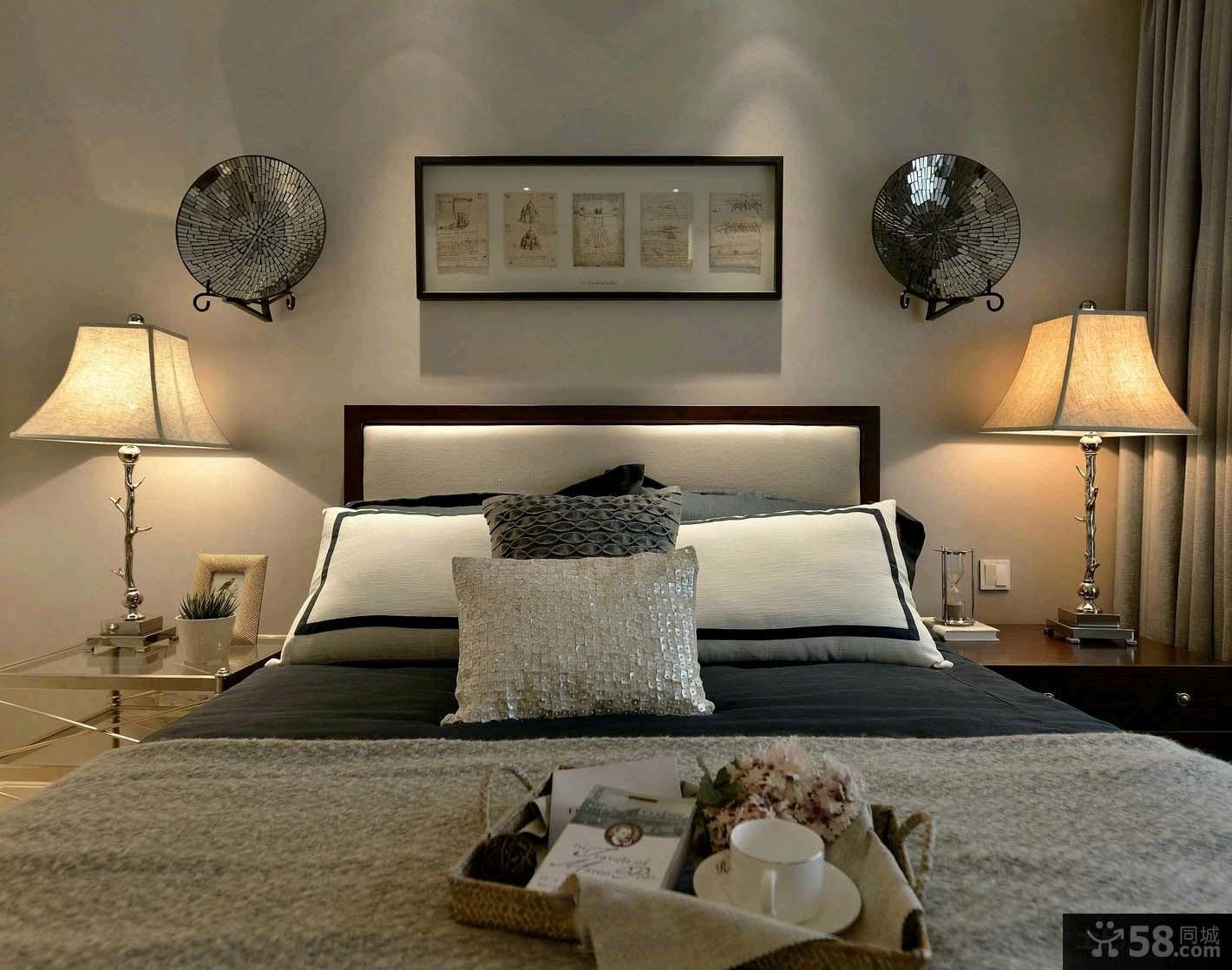美式简约两室一厅家居室内装修效果图大全