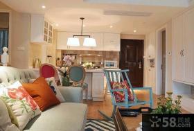 94平米美式生动色彩家居装修效果图