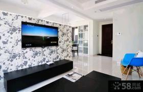 现代风格87平米小二居温馨家装效果图