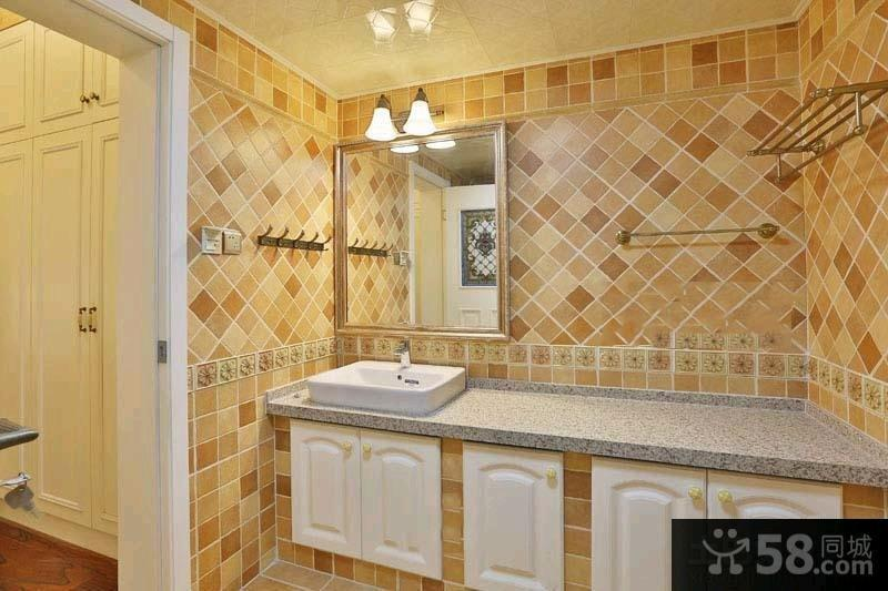74平米田园风格一居室装修效果图大全2015
