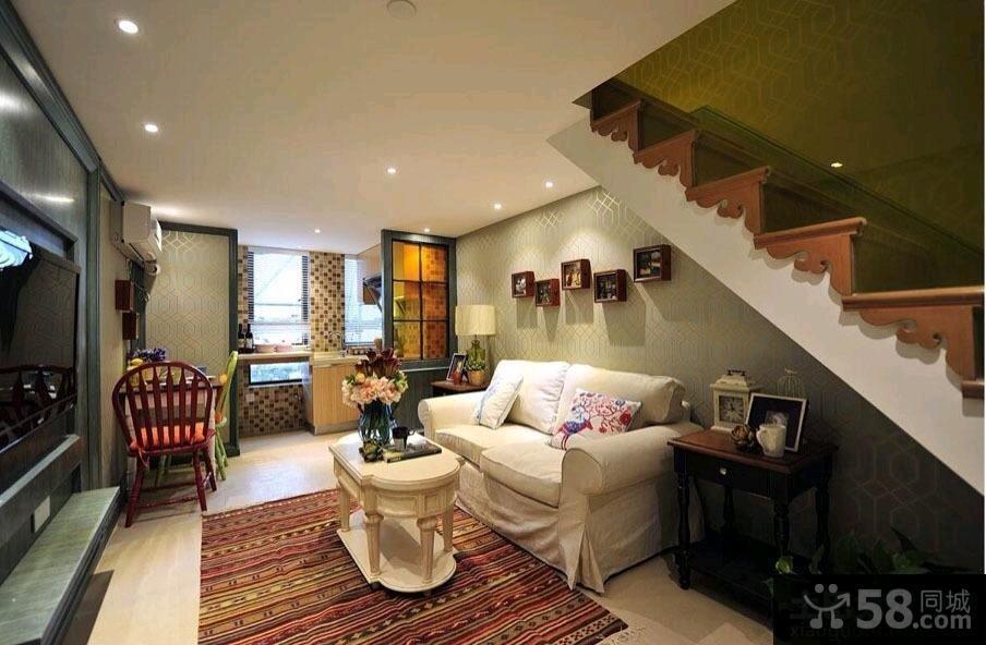 现代新古典风格客厅沙发背景墙效果图