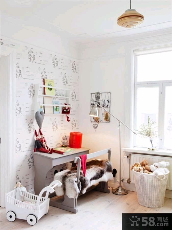 114平米北欧风格小复式家庭装修图片