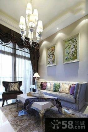 欧式混搭风格三居室室内设计2015