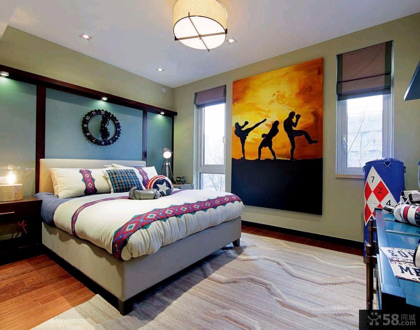 宜家风格110平米三居室户型装修设计图片