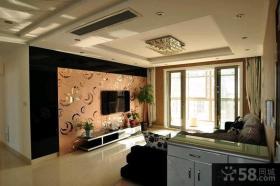 现代风格两室一厅家庭室内装修效果图