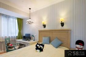 94平米美式两房一厅户型装修效果图大全