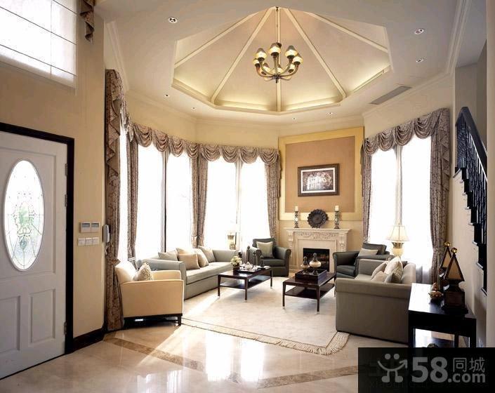 家装豪华客厅吊顶图片