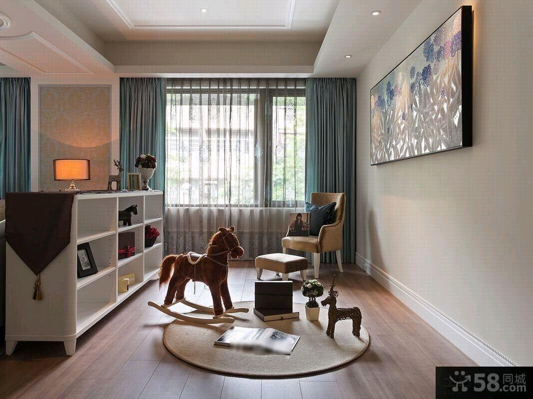 现代欧式风格电视背景墙装修效果图