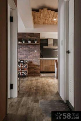 美式仿古风格两室一厅家装效果图大全