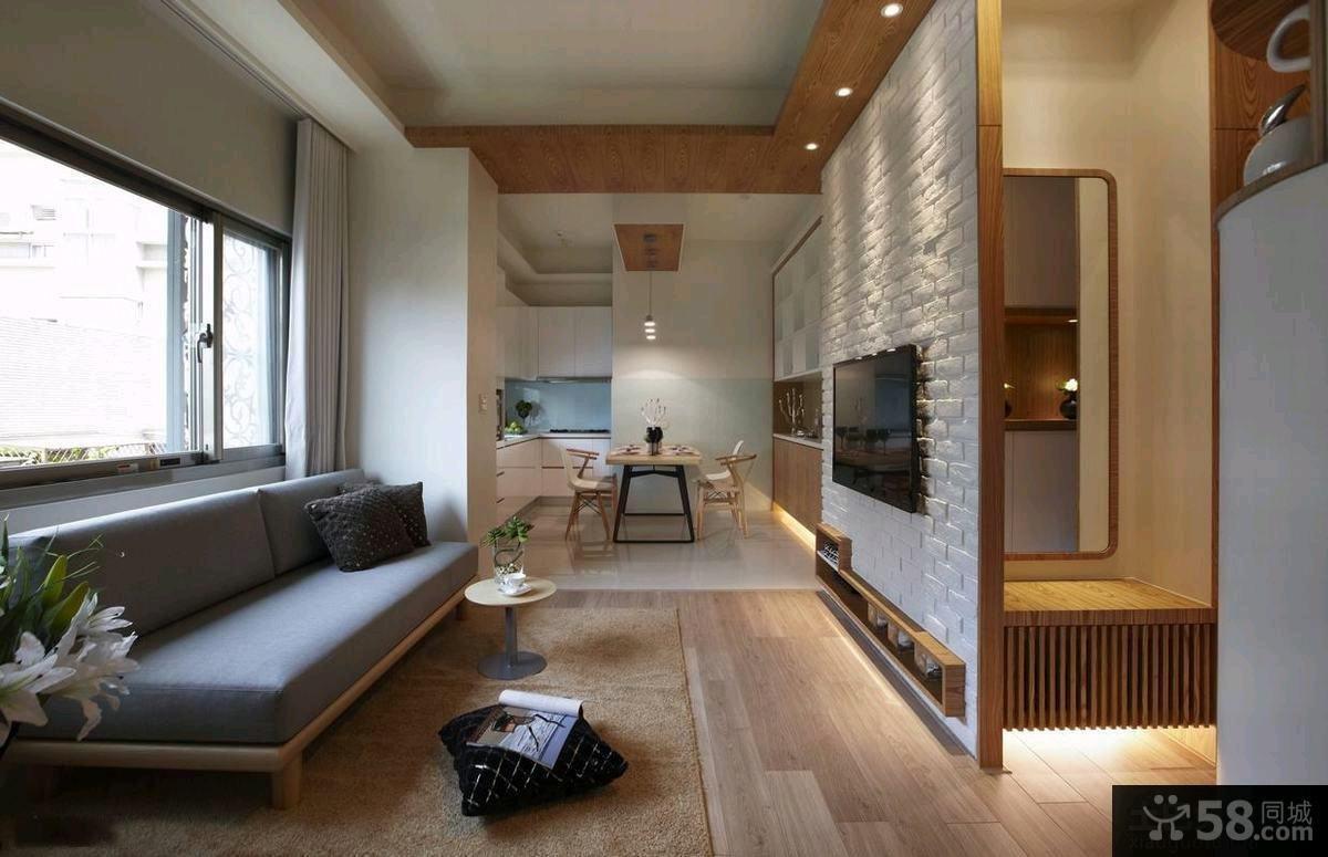 家装小客厅电视背景墙效果图大全