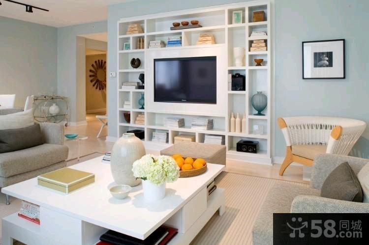 日式家装室内客厅电视背景墙图片