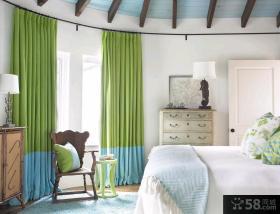 北欧混搭风格卧室窗帘图片