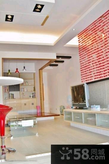 美式装修豪华客厅电视背景墙图片大全