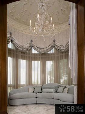 简约客厅窗帘效果图欣赏大全
