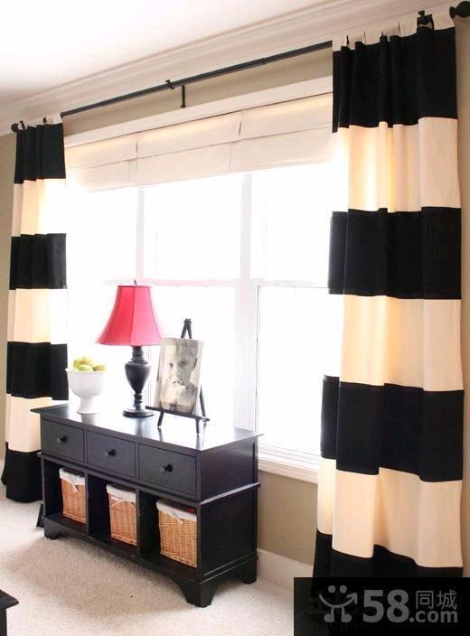 现代简约装修窗帘效果图