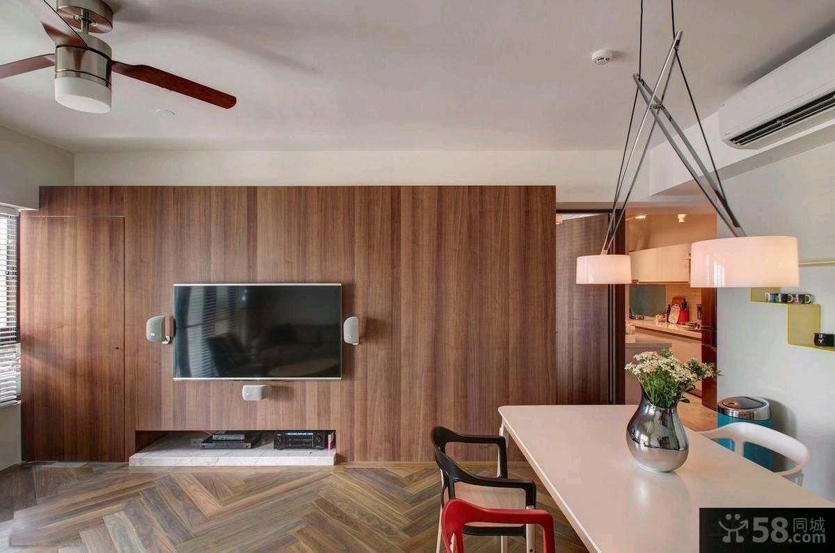 简约时尚客厅电视背景墙效果图欣赏