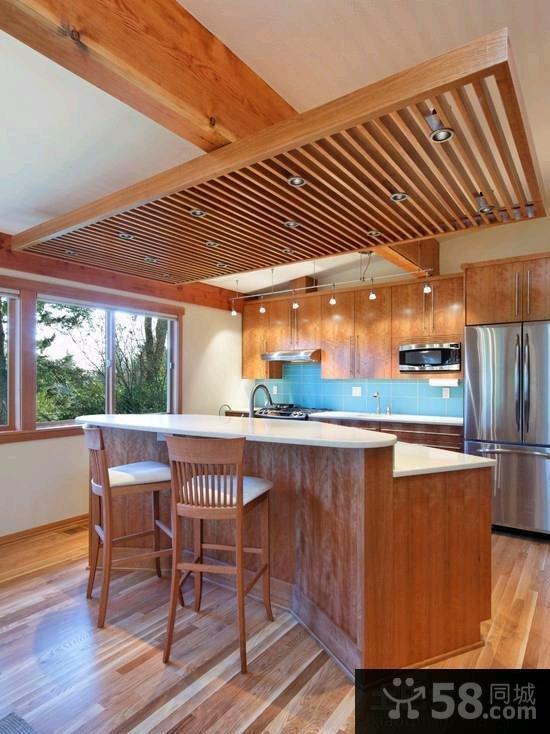 美式装修厨房吊顶效果图
