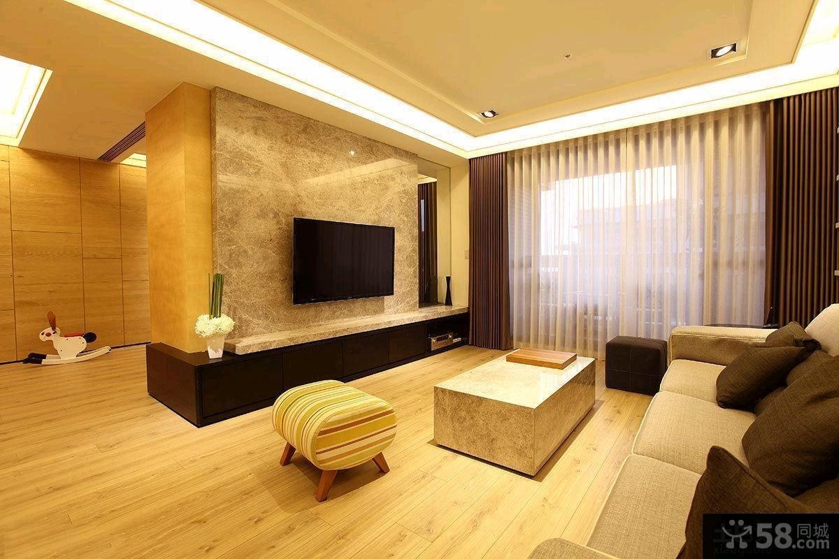96平米简约日式风格二居室装修效果图片