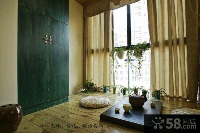 60平米日式风格公寓装修效果图