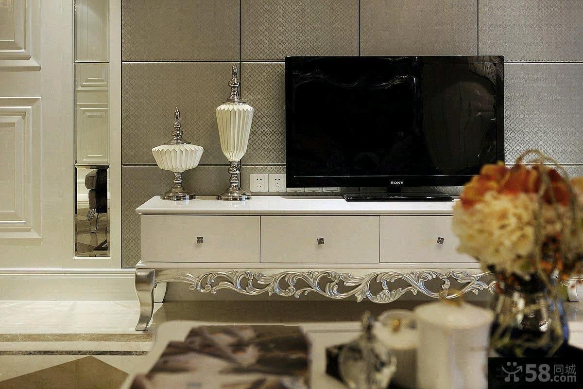 欧式风格两室一厅装修效果图大全2015