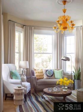 北欧风格客厅窗帘图片欣赏